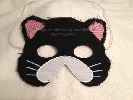 Kitty Mask in the Hoop Applique Embroidery Design
