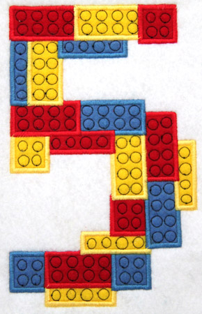 Birthday Block Number Two Applique Embroidery Design