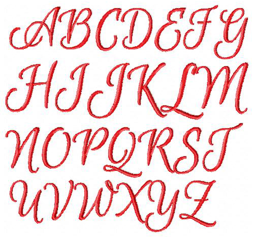 Swirl Font A-Z 1-9 Upper and Lowercase