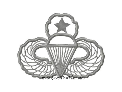 Airborne Ranger Applique Embroidery Design