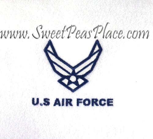 Air Force Logo Filled Embroidery Design