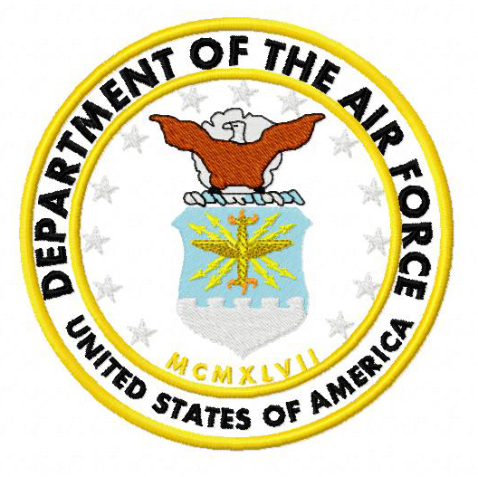 Airforce Seal Applique Embroidery Design