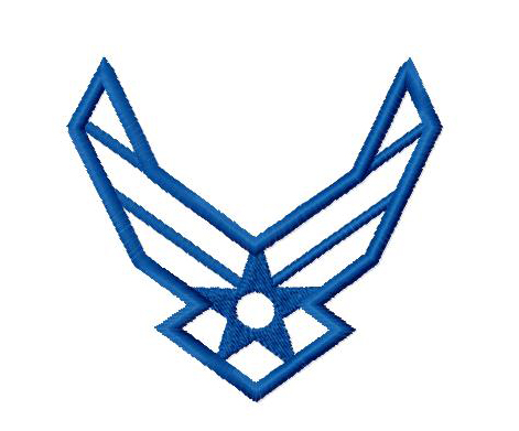 Military Air Force Symbol Applique Embroidery Design Sweet Peas Place