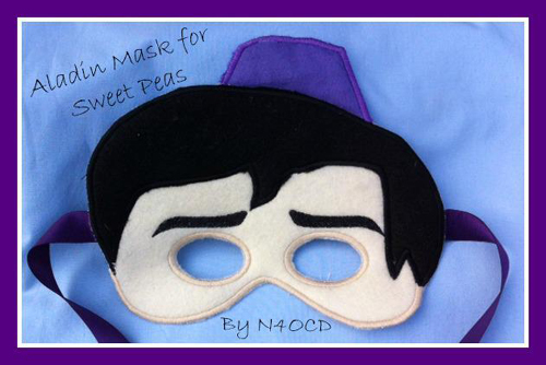 Prince Mask in the Hoop Applique Embroidery Design