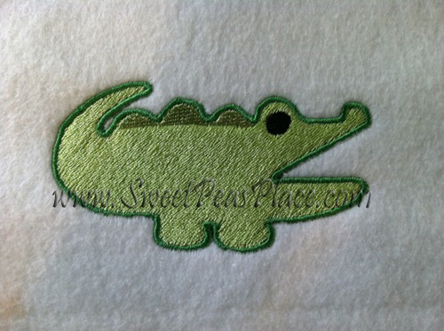 Alligator Filled Embroidery Design