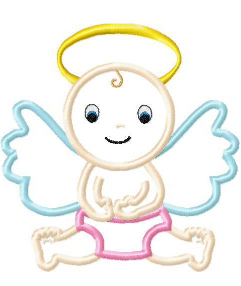 Angel Applique Embroidery Design