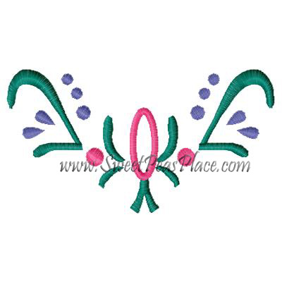 Flower Coronation Embroidery Applique Embroidery Design