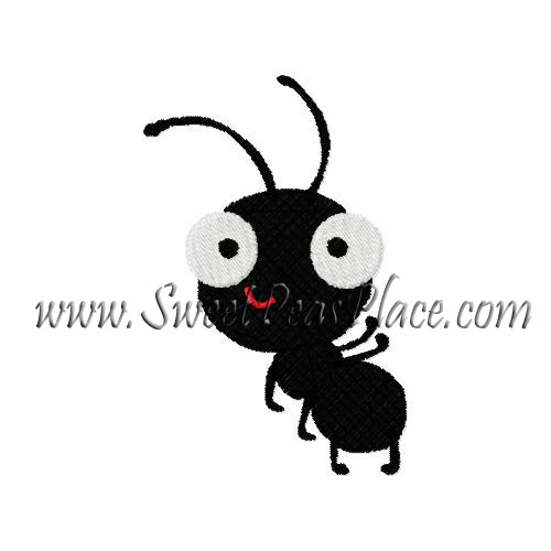 Ant Standing Filled Embroidery Design