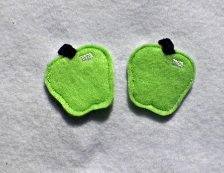 Apple for felt Applique Embroidery Design