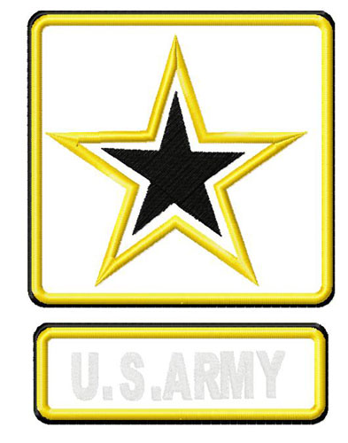Army Logo Applique Embroidery Design