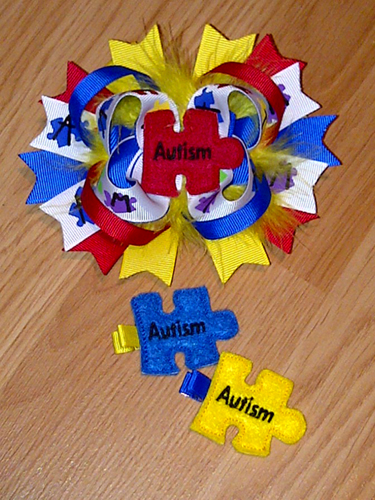 Autism Awareness For Felt Embroidery Design