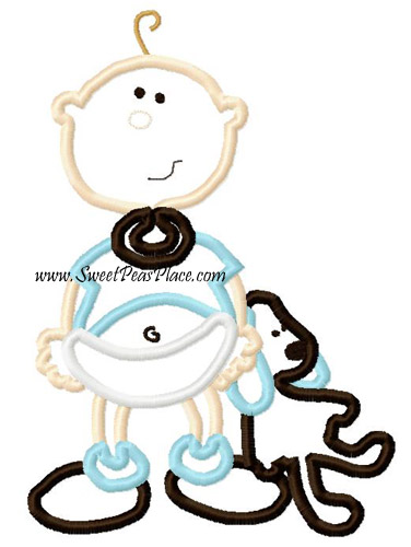 Baby Boy 3 Applique Embroidery Design