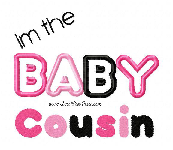 The Baby Cousin Applique Embroidery Design