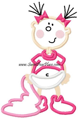 Baby Girl 1 Applique Embroidery Design