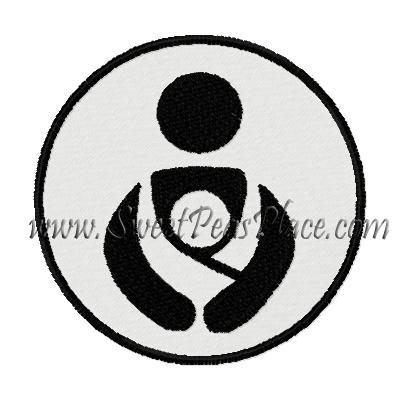 Baby Wearing Logo Embroidery Design