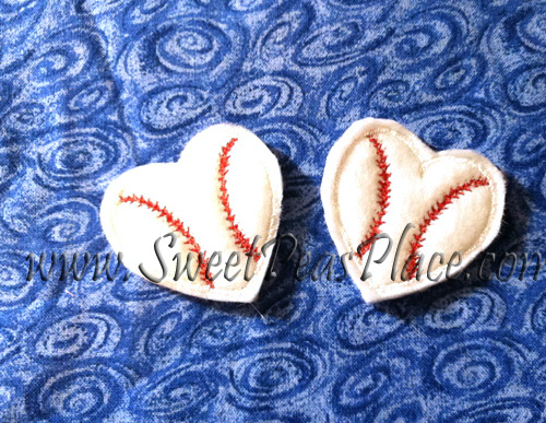 Heart Baseball for Felt Embroidery Design