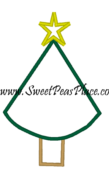 Basic Christmas Tree Applique Design