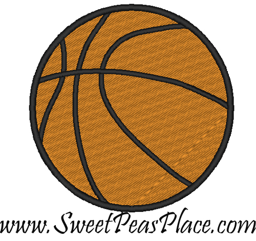 Basketball Filled Embroidery Design