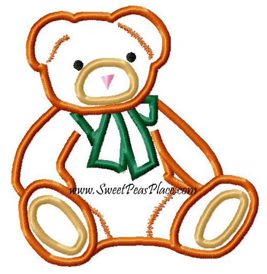 Bear 3 Applique Embroidery Design