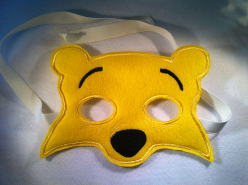 Bear 2 Mask in the hoop Applique Embroidery Design