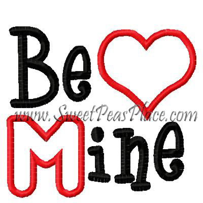 Be Mine Applique Embroidery Design