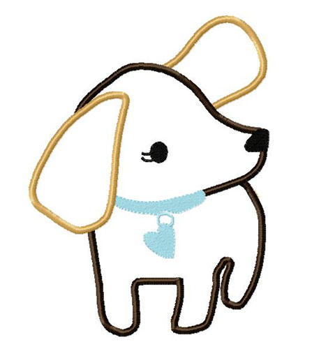Girls Best friend Applique Embroidery Design