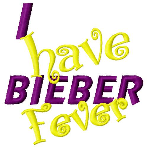 Bieber Fever Filled Embroidery Design