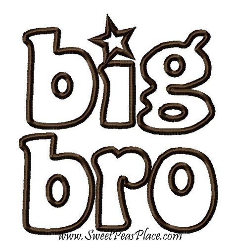 Big Bro Applique Embroidery Design