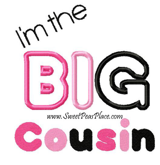 The Big Cousin Applique Embroidery Design