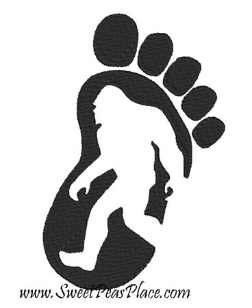 Big Foot Filled Embroidery Design