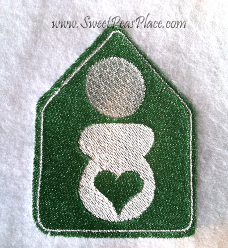 Birth at Home Embroidery Design
