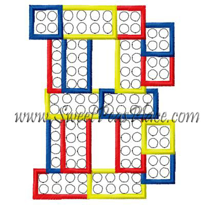 Block Letter B Applique Embroidery Design
