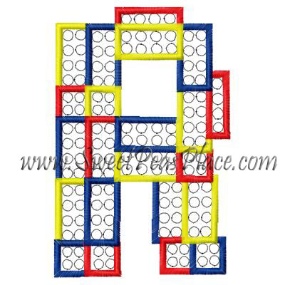 Block Letter R Applique Embroidery Design