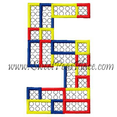 Block Letter S Applique Embroidery Design