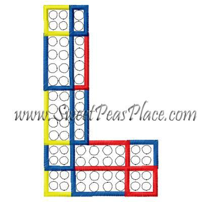 Block Letters, Block Letter L Applique Embroidery Design, Sweet Peas ...