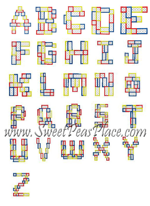 Block Letter A-Z Complete Applique Embroidery Design