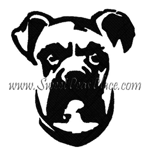 Boxer Filled Embroidery Design