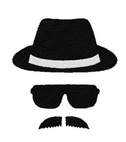 Man with Hat filled embroidery design