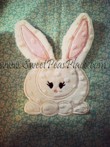 Bunny with 3d Ears in the Hoop Applique Embroidery Design