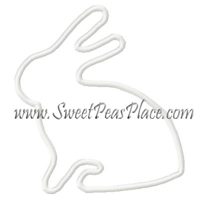 Bunny Profile Applique Embroidery Design