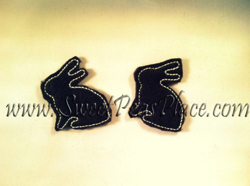 Bunny Profile Felt Applique Embroidery Design