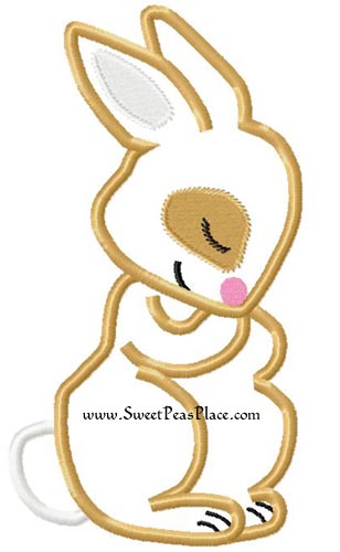 Sweet Bunny Applique Embroidery Design