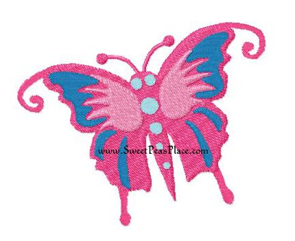 Butterfly 3 Filled Embroidery Design