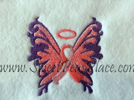 Cancer Awareness Angel Embroidery Design