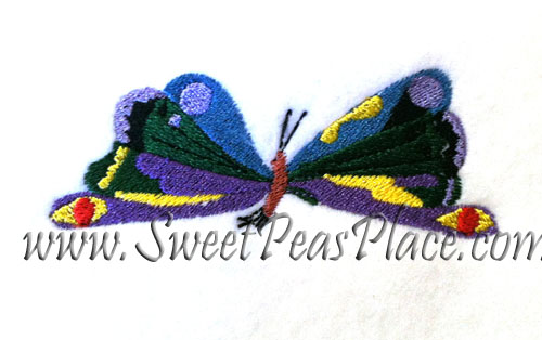 Butterfly colorful embroidery Design
