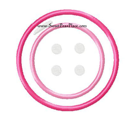 Button Applique Embroidery Design