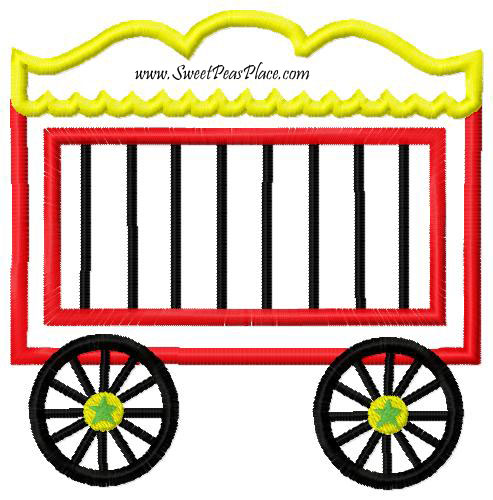 Carnival Circus Train For Vinyl Applique Embroidery
