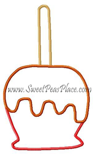 Candy Apple Applique Embroidery Design