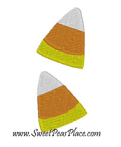 Double Candy corn filled Embroidery Design