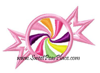 Candy Shop Candy Applique Embroidery Design